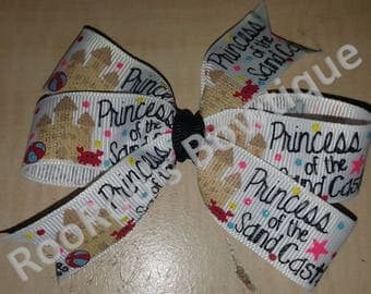Princess of the Sand Castle Pinwheel Hair Bow