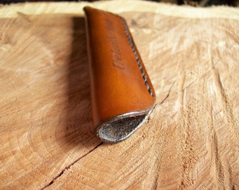 Personalized Leather Pen Case