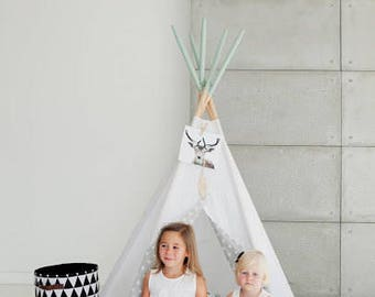 TEEPEE SET, tipi kids, playtent, rounded mat and 2 douvet covers Kids tents, Wigwam, Zelt, Tent, Playtent