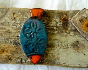 Ceramic fish to hang-enamels - wall art - marine decoration