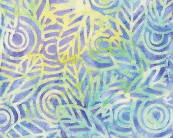 Lilac Geo Leaf Batik from Benartex - Bali Gelato cotton fabric purple 7504B-06