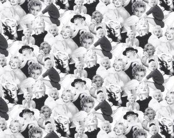 Platinum Marilyn Monroe Allover from Robert Kaufman Digital Print quilting cotton fabric material by the yard or metre AYO17198187