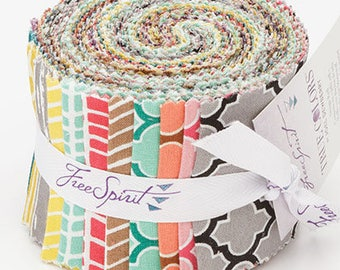 Joel Dewberry True Colors Design Roll (jelly roll) - 20 pieces precut strips quilting cotton freespirit modern
