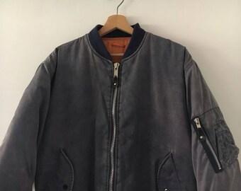 Bomber Jacket Vintage 90s Reversible Unisex Skinhead Style