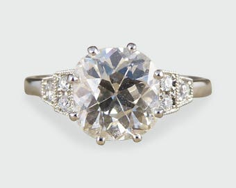 Vintage 1.82ct Diamond Solitaire Engagement Ring in Platinum RG368