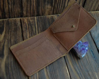 Leather wallet, Laconic Design Wallet, Leather Wallet Cardholder