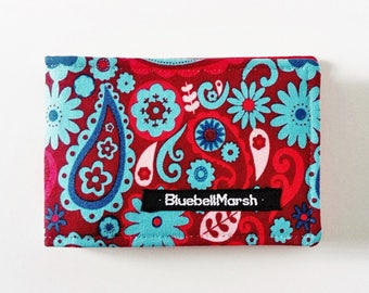 Travel card holder, paisley