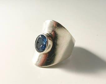 Vintage Modernist 950 Sterling Silver Ring