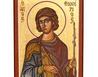 Orthodox Icon Byzantine Icon Religious Icon Saint Fanourios Christian Icon