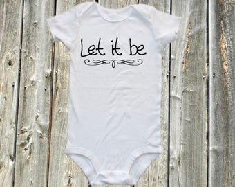 Band onesie, Band bodysuit - Let it be - music baby bodysuit,  one-piece shirt