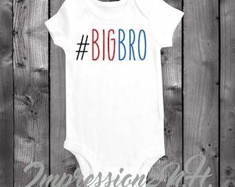 Big bro - Big brother onesie, big brother bodysuit #BIGbro , funny baby onesie, funny big brother shirt