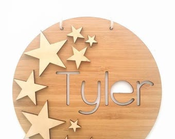 Wall or Door Hung Childrens Name Plaques