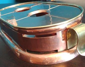 Vintage Rechaud, Copper Food Warmer, Bauhaus style, 1930,