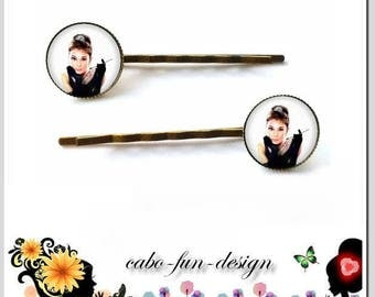 1 pair of hair clips AUDREY bronze