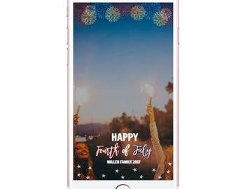 4TH of july geofilter Fireworks geofilter