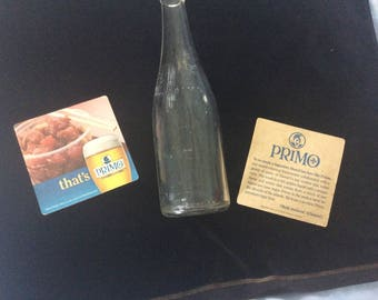 REDUCED! Vintage Hawaiian Primo Beer Bottle and Coasters with Poke Lot, 2