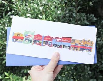 21st Avenue, Hillsboro Village Greeting Card
