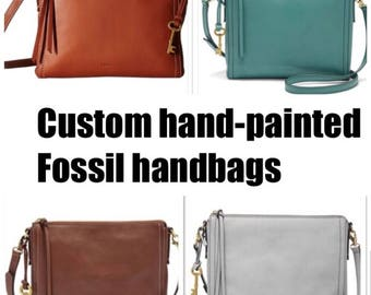 Custom painted handbags