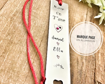 Personalized Bookmark, Stamped Book Mark, Gift for Mom Dad, Reading Gift, Engraved Bookmark