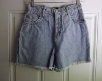 Blue 5-Pocket Denim Jean Shorts by LA Blues, Size 4, Vintage