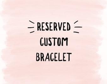 Custom Howlite Bracelet
