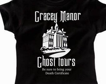 Toddler Disney Shirts Haunted Mansion Shirts Gracey Manor Ghost Tours Disney Halloween Shirts  Disneyland Shirts Disney World Shirts