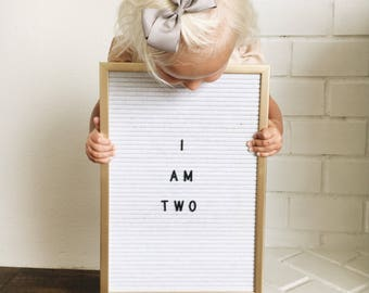 """11""""x16"""" LETTER BOARD WHITE Felt Black Lettering Frame 145 Alphabets & Numbers Wall Art Special Characters Birth Announcement Birthday"""
