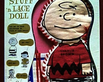 1960 Peanuts Charlie Brown Stuff n' Lace doll by Standard Toycraft