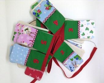 Handmade Christmas Advent Pocket Bunting