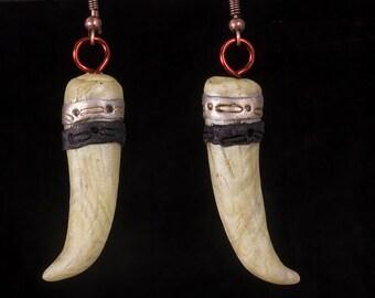 Faux bone polymer clay earrings