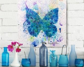 Painting, Wall Art, Butterfly, Original artwork, Interior Decoration, Decor, Item #Metamorphose