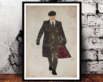Peaky Blinders Tommy Shelby Cillian Murphy unique gift PeakyFans Birmingham Thomas Shelby gifts for him gifts for her valentines A4 print