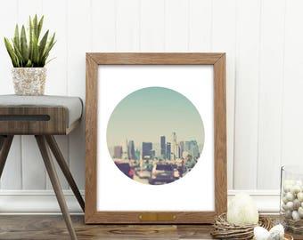 Los Angeles picture, LA photo, instant print, LA printables, DTLA, downtown Los Angeles print, freeway, dorm decor, city print, photography