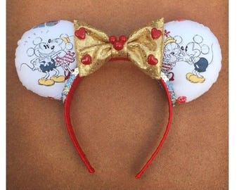 I Love You Mickey and Minnie Mouse Ears