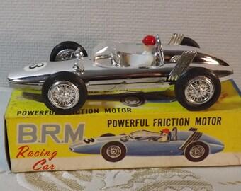 BRM racing car. ZEE. voiture à friction. Old car. Vintage. Hong Kong