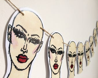 Drag Race bunting, Sasha Velour bunting pack, perfect gift for RuPaul's Drag Race fans