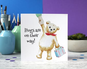 New baby card, Teddy bear card, Sympathy card, blank card, greeting card