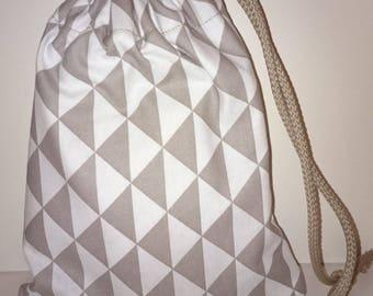 Gray and white Pocket bag