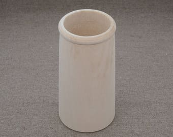 Unfinished Wood Vase pencil holder basswood paintable wood decoupage painting craft home decor supplies storage DIY blank woodworking
