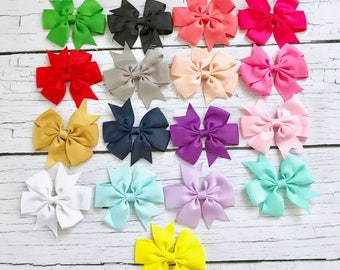 YOU PICK 3 Bow Headbands/Newborn Headband/Baby Girl Headband/Baby Headband/Baby Bow Headband/Infant Headband/Baby Bow/Headband/Baby Hair Bow