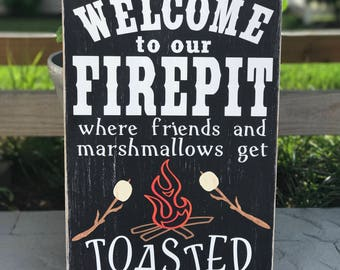 Welcome to our Firepit Wood/Pallet Sign