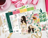 Aloha | Planner Sticker Kit, Weekly Kit for use with Happy Planner, Ice Cream, Palm, Vacation, Holiday, Beach, Tropical, Summer