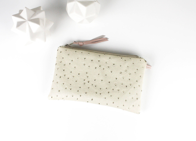 Porte monnaie en simili cuir autruche doubl tissu japonais - Porte monnaie en tissu ...