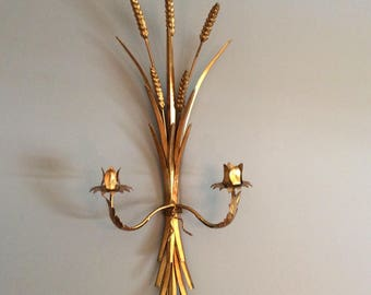 Vintage Gold Wheat Sconce