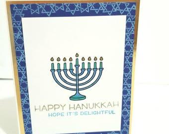 Hanukkah Card, Happy Hanukkah Card, Handmade Hanukkah Card