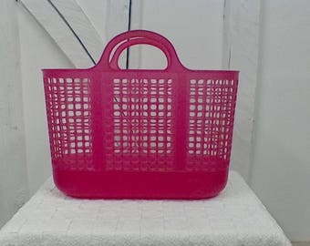Vintage perforated plastic shopping bag