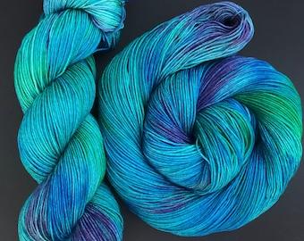 Goshen- Hand dyed yarn, sock weight, Superwash Merino, 463 yards