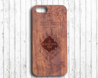 Harry potter  iphone 7 case  Wood iphone 6s case  the Marauder's Map iphone 7 plus case  Custom initials  wooden iphone 6 case  iphone skin