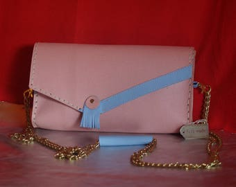pastel leather all very nice bag