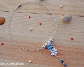 Choker the tiare flower bead charm
